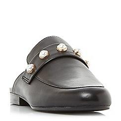 Steve Madden - Black leather 'Kandi-p' loafers