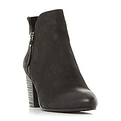 Steve Madden - Black leather 'Winner' block heel ankle boots
