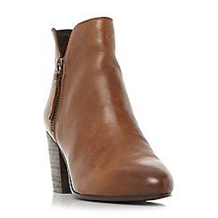 Steve Madden - Tan leather 'Winner Steve Madden' platform ankle boots
