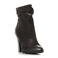 Steve Madden - Black leather 'Wannabyy' block heel ankle boots