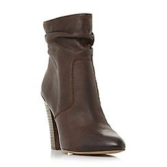 Steve Madden - Brown leather 'Wannabyy' block heel ankle boots