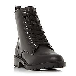 Steve Madden - Black leather 'Officer' block heel biker boots