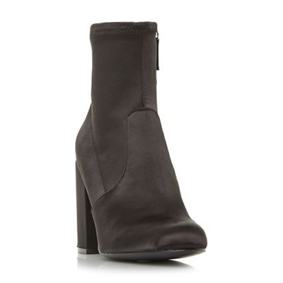 Steve Madden - Black satin 'Gaz'' high block heel ankle boots