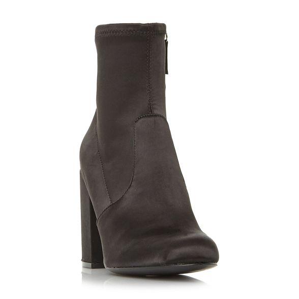 high Steve ankle 'Gaz'' satin heel block boots nbsp; nbsp; Black Madden 4wqSFf