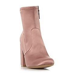 Steve Madden - Pink satin 'Gaz'' high block heel ankle boots