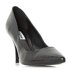 Dune - Black 'Aeryn' mid heel flex sole court shoes