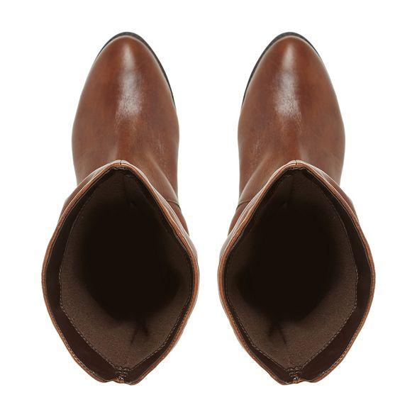 Tan ruched Dune calf on boots 'Rosalind' slip 8nIIzwqxdf