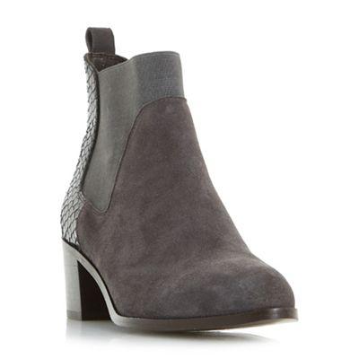 Dune - Grey 'Oprentice' mixed material  chelsea boots