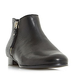 Dune - Black 'Panders' side zip pixie ankle boots