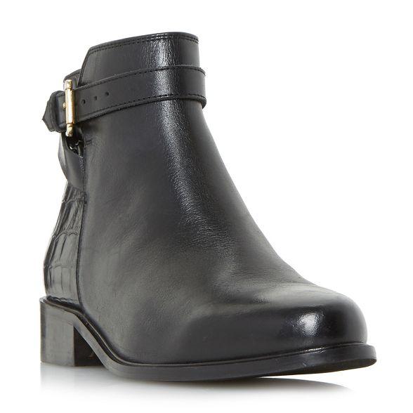 'Poppy' detail boots zip Dune buckle ankle Black side PqwxnT5ABg