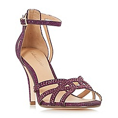 Roland Cartier - Purple 'Magma' diamante cut out heeled sandals