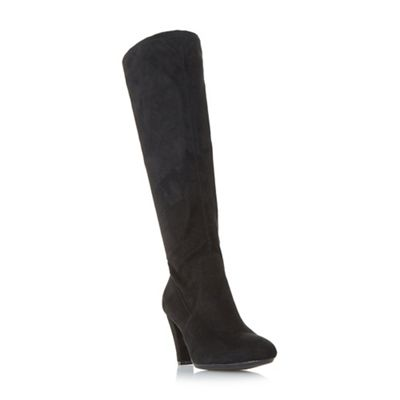 Roberto Vianni - Black 'Surie' stretch heeled knee boots