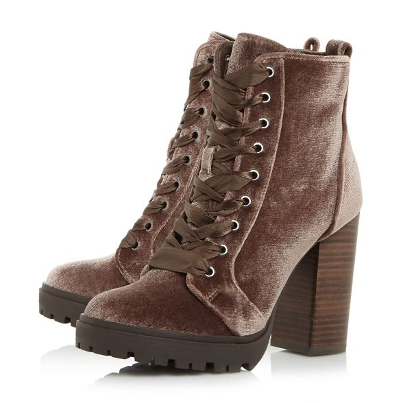 Taupe nbsp; boots block ankle 'Laurie' nbsp; heel Madden high Steve 5FUwgq8