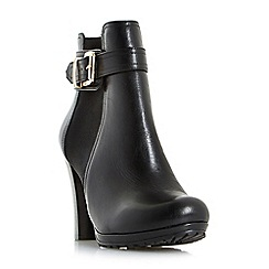 Dune - Black 'Orine' buckle strap heeled ankle boots