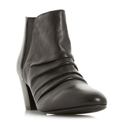 Roberto Vianni - Black 'Obscure' ruched ankle boots