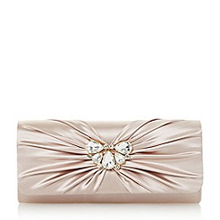 Roland Cartier - Natural 'Blissful' diamante ruched clutch bag