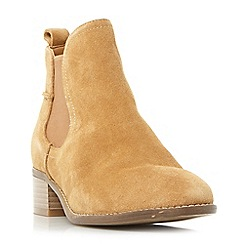 Steve Madden - Taupe suede 'Dicey' block heel Chelsea boots