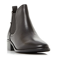 Steve Madden - Black leather 'Dicey' block heel Chelsea boots