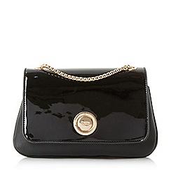 Dune - Black 'Elfina' double pocket circle lock shoulder bag