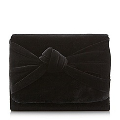 Head Over Heels by Dune - Black 'Bernette' knot detail clutch bag
