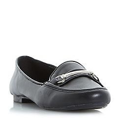 Roberto Vianni - Black 'Gulliver' metal trim loafers