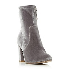 Steve Madden - Grey 'Avenue' high block heel ankle boots