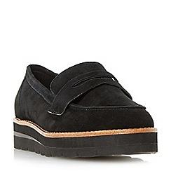 Dune - Black 'Gabryel' flatform sole penny loafers