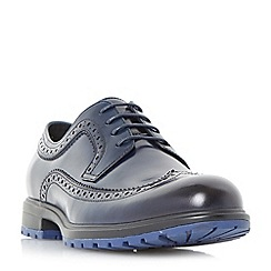 Dune - Navy 'Battlestar' contrast sole cleated brogue shoes