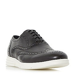 Dune - Black 'Bungee' wedge casual brogue shoes