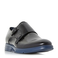 Dune - Black 'Braveheart' wedge sole monk shoes
