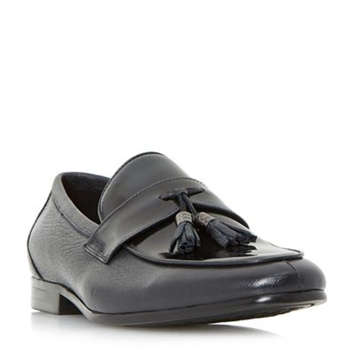 Dune - Black 'Princetown' hi-shine tassel loafer shoes