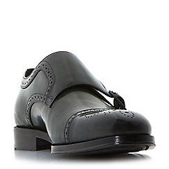 Dune - Green 'Patriarch' double buckle toecap monk shoes