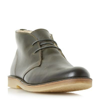 Dune - Green 'Calabasas' warm lined crepe sole desert boots