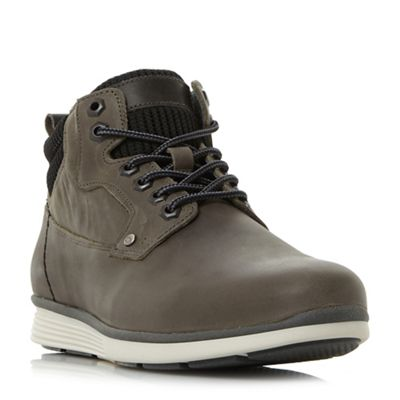 Dune - Grey 'Champion' sporty wedge nubuck boots