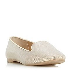Head Over Heels by Dune - Gold 'Hales' slipper cut loafers shoes