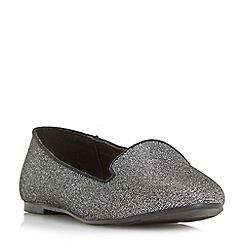 Head Over Heels by Dune - Silver 'Hales' slipper cut loafers shoes