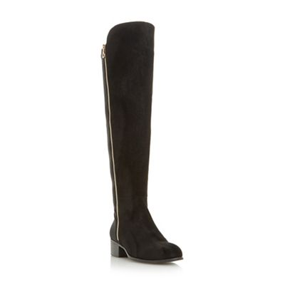 Head Over Heels by Dune - Black 'Tessies' side zip over the knee boots