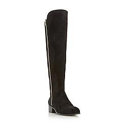 Head Over Heels by Dune - Black 'Tessies' side zip over the knee boots
