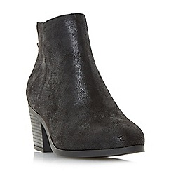 Head Over Heels by Dune - Black 'Pretty' back zip ankle boots