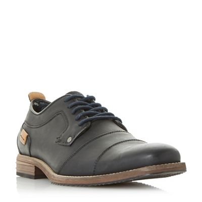 Dune - Black 'Brother' toe cap gibson shoes