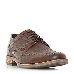 Dune - Brown 'Buddy' lace up brogue shoes