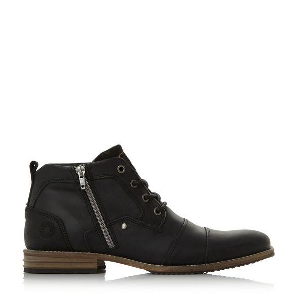 double Black detail toe leather Dune boots cap 'Captains' OSxZwHn