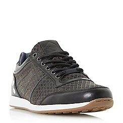 Dune - Black 'Texas' mesh effect embossed trainers