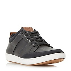 Dune - Black 'Tristan' stitch detail bumper trainers