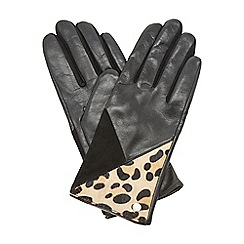 Dune - Black 'Ilexia' decorative panel leather glove