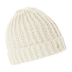 Dune - Cream 'Fearn' foldover beanie hat