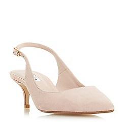 Dune - Blush 'Casandra' kitten heel slingback court shoes