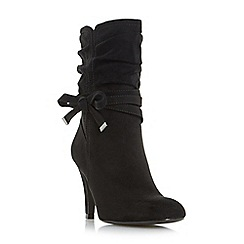 Head Over Heels by Dune - Black 'Rayna' side bow detail calf boots