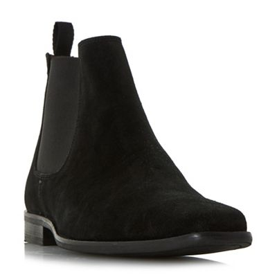 Dune   Black 'major' Suede Chelsea Boots by Dune