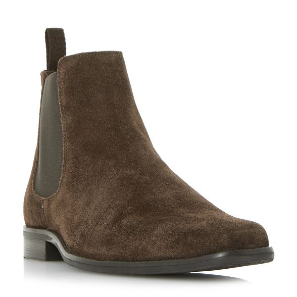 chelsea Brown Dune 'Major' suede boots FwpqZ8xB